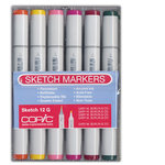 Copic - Sketch Marker Set - Very Primary - 12 Piece Set