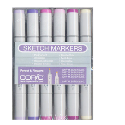 Copic - Sketch Marker Set - Forest and Flowers - 12 Piece Set