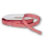 Darice - Bulk Bargain - Red Gingham Ribbon - 25 yards