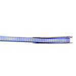 Darice - Bulk Ribbon - 25 yards - Gingham Check - Royal Blue and White - Three Eighths Inch