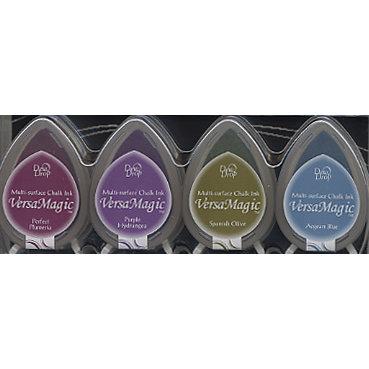 Tsukineko - Dew Drop VersaMagic Chalk Ink - Jewel Box Colors Set