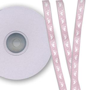 Darice - Bulk Bargain - Baby Feet Pink Ribbon - 25 Yards - Three Eighths Inch