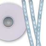 Darice - Bulk Bargain - Baby Feet Light Blue Ribbon - 25 Yards - Three Eighths Inch
