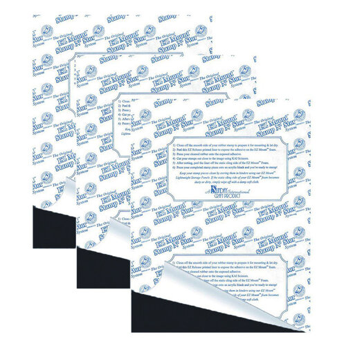 EZ Mount Stamp N Store - Static Cling Mounting Foam for Stamps - 1/16 Inch Thickness - 3 Pack Set