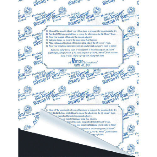 EZ Mount Stamp N Store - Static Cling Mounting Foam for Stamps - 1/16 Inch Thickness