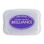 Tsukineko - Brilliance - Archival Pigment Ink Pad - Mediterranean Blue