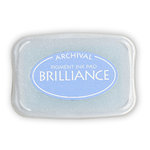 Tsukineko - Brilliance - Archival Pigment Ink Pad - Pearlescent Sky Blue