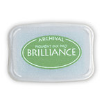 Tsukineko - Brilliance - Archival Pigment Ink Pad - Pearlescent Thyme