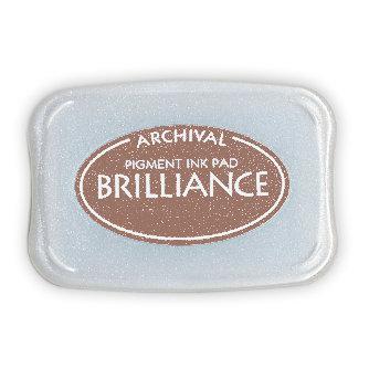 Tsukineko - Brilliance - Archival Pigment Ink Pad - Pearlescent Chocolate