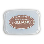 Tsukineko - Brilliance - Archival Pigment Ink Pad - Pearlescent Chocolate