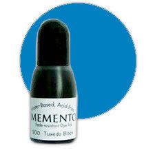 Tsukineko - Memento - Fade Resistant Dye Ink Pad - Reinker - Bahama Blue