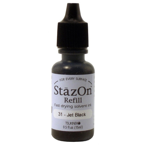 Staz On - Refill - Jet Black - Reinker