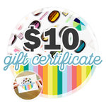 10 Gift Certificate - Email or Print