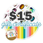 15 Gift Certificate - Email or Print