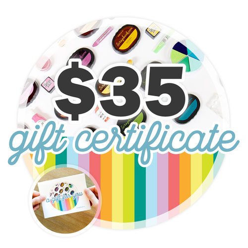 35 Gift Certificate - Email or Print