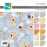 GCD Studios - No Worries Collection - 12x12 Double Sided Paper Collection Pack - No Worries - Family - Flowers , CLEARANCE