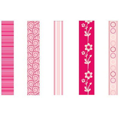 GCD Studios - Rose Colored Glasses Collection - Self Adhesive Ribbon - Rose Colored Glasses - Baby - Girl, CLEARANCE