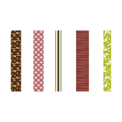 GCD Studios - Zen Garden Collection - Self Adhesive Ribbon - Zen Garden- Asian - Memory, CLEARANCE