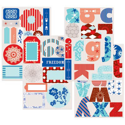 GCD Studios - Rockets Red Glare Collection - Self Adhesive Die Cut Chipboard - Rockets Red Glare- Patriotic - 4th of July - Fireworks, CLEARANCE
