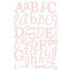 GCD Studios - Letter Stickers - Pink Glitter, CLEARANCE