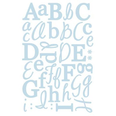 GCD Studios - Letter Stickers - Blue Glitter, CLEARANCE