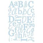GCD Studios - Letter Stickers - Blue Glitter, CLEARANCE