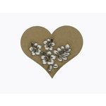 Grapevine Designs and Studio - Chipboard Shapes - Flourish Heart 3