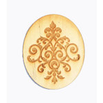 Grapevine Designs and Studio - Wood Shapes - Damask Etched Oval