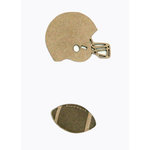 Grapevine Designs and Studio - Chipboard Shapes - Football Helmet and Ball