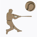 Grapevine Designs and Studio - Chipboard Shapes - Baseball Player and Ball