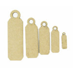 Grapevine Designs and Studio - Chipboard Shapes - Multi Size Jewelry Tags