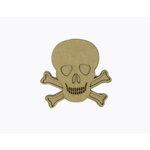 Grapevine Designs and Studio - Halloween - Chipboard Shapes - Skull and Crossbones - Medium