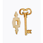 Grapevine Designs and Studio - Wood Shapes - Skeleton Lock and Key