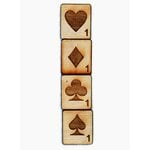 Grapevine Designs and Studio - Wood Shapes - Card Suite Tiles - Set of 4