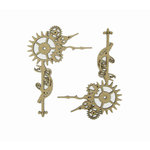 Grapevine Designs and Studio - Chipboard Shapes - Steampunk Corner Gears