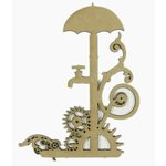 Grapevine Designs and Studio - Chipboard Shapes - Steampunk Faucet and Gears