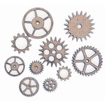 Grapevine Designs and Studio - Chipboard Shapes - Medium Gears - 10 Pack