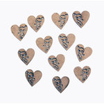 Grapevine Designs and Studio - Chipboard Shapes - Itty Bitty Pieces - Heart