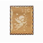Grapevine Designs and Studio - Wood Shapes - Cupid Postage Stamp