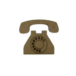 Grapevine Designs and Studio - Chipboard Shapes - Vintage Etched Phone
