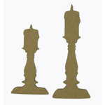 Grapevine Designs and Studio - Halloween - Chipboard Shapes - Two Candles
