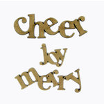 Grapevine Designs and Studio - Christmas - Chipboard Shapes - Joy Merry Cheer