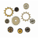 Grapevine Designs and Studio - Chipboard and Wood Shapes - Small Gears - 10 Pack