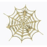 Grapevine Designs and Studio - Halloween - Chipboard Shapes - Spider Web with 3 Spiders