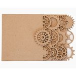Grapevine Designs and Studio - Chipboard Album - Gear Book