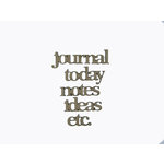 Grapevine Designs and Studio - Chipboard Shapes - Journal Words 1
