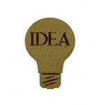 Grapevine Designs and Studio - Chipboard Shapes - Idea Light Bulb