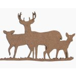 Grapevine Designs and Studio - Chipboard Shapes - Deer Family