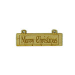 Grapevine Designs and Studio - Wood Shapes - Merry Christmas Placard