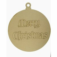 Grapevine Designs and Studio - Wood Shapes - Merry Christmas Ornament